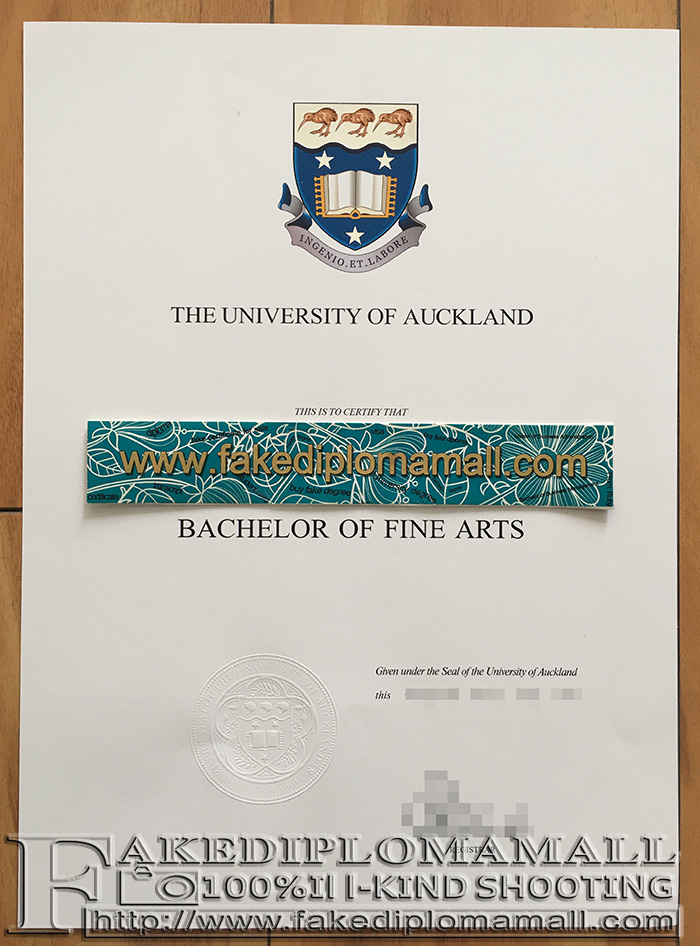 University of Auckland degree sample