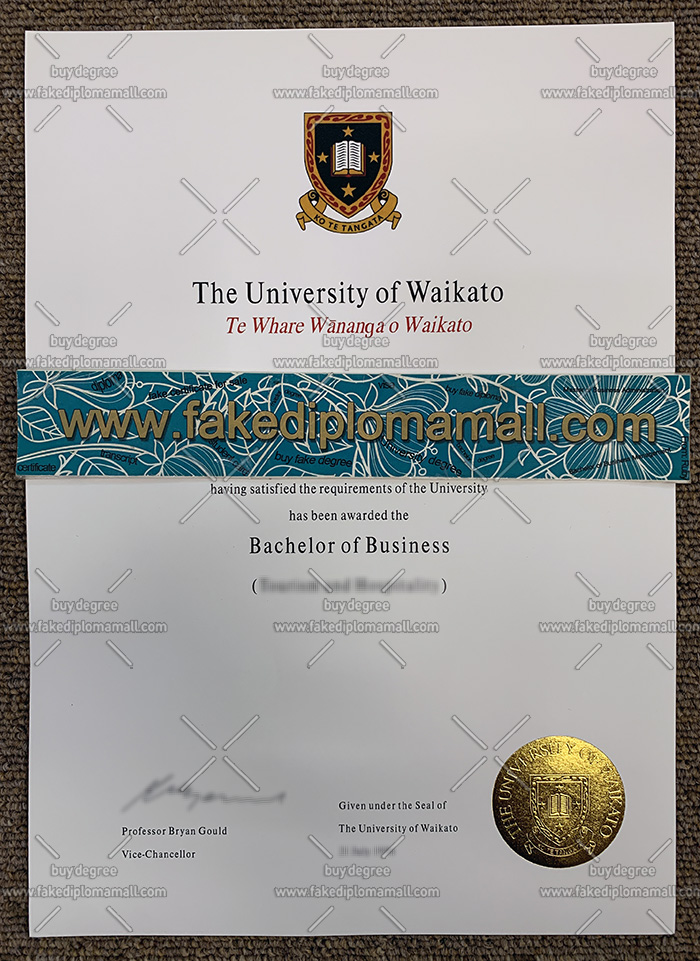 The University of Waikato degree, The University of Waikato diploma, The University of Waikato certificate