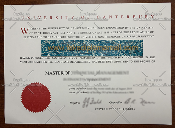 University of Canterbury degree, University of Canterbury diploma, New Zealand university diploma