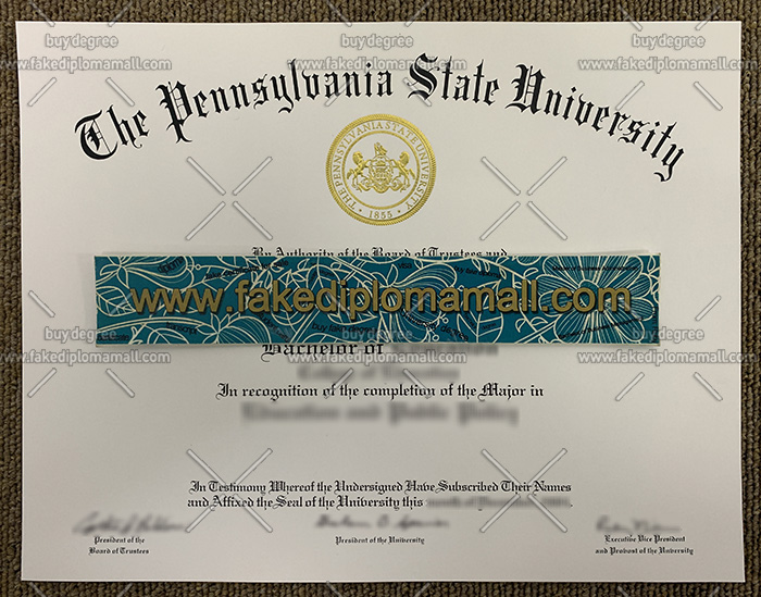 Pennsylvania State University degree, Penn State University diploma, PSU degree