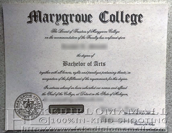 Marygrove College Fake Diploma, Marygrove College Degree