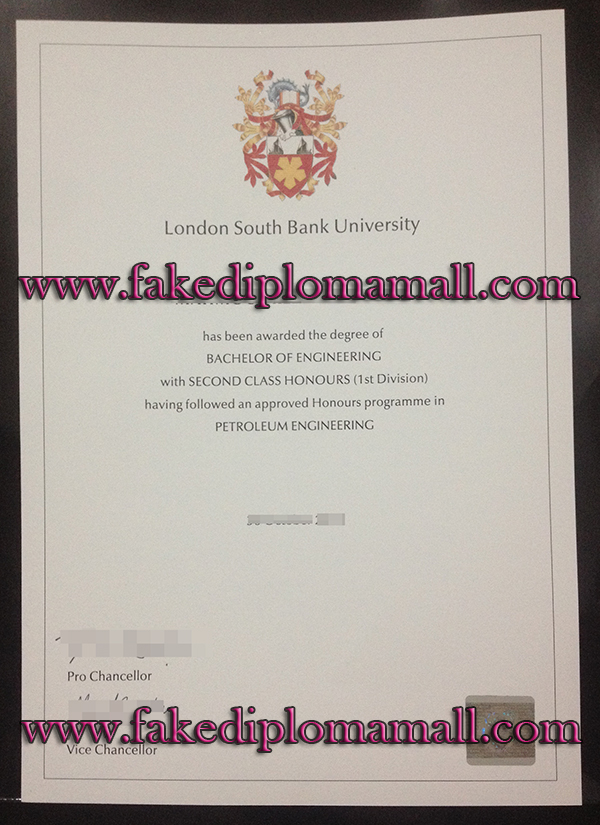 London South Bank Universitydiploma, LSBU degree