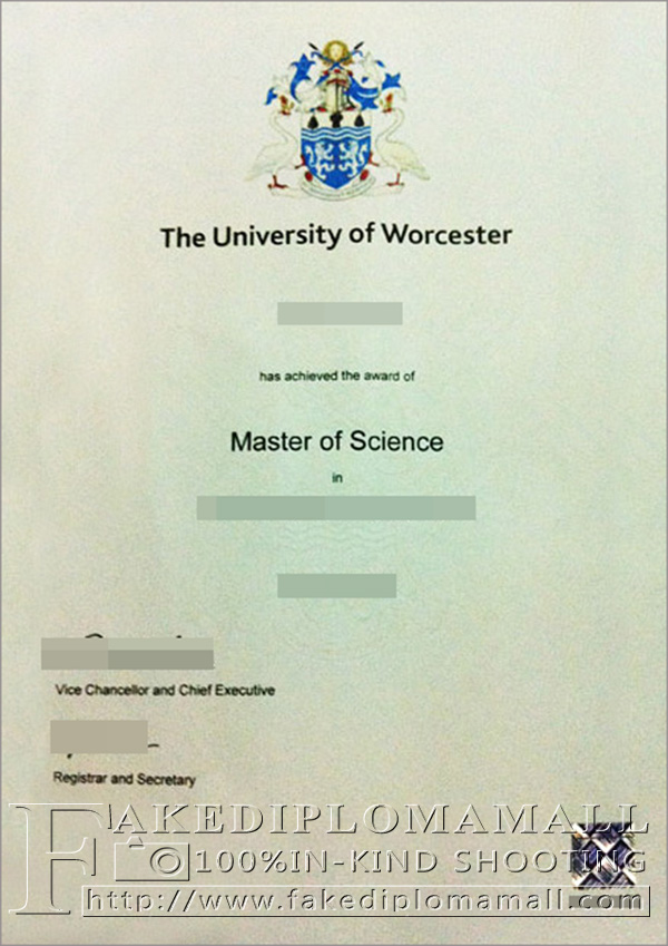 University of Worcester degree, University of Worcester diploma