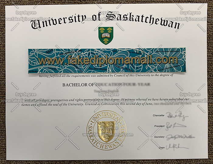 University of Saskatchewan degree certificate