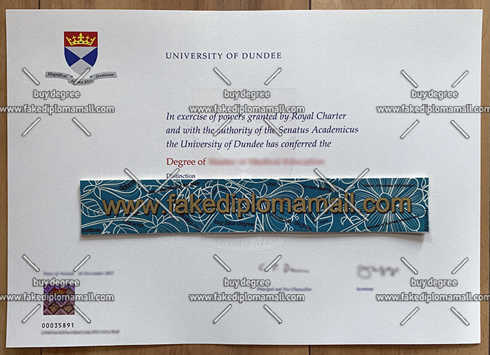 University of Dundee degree certificate