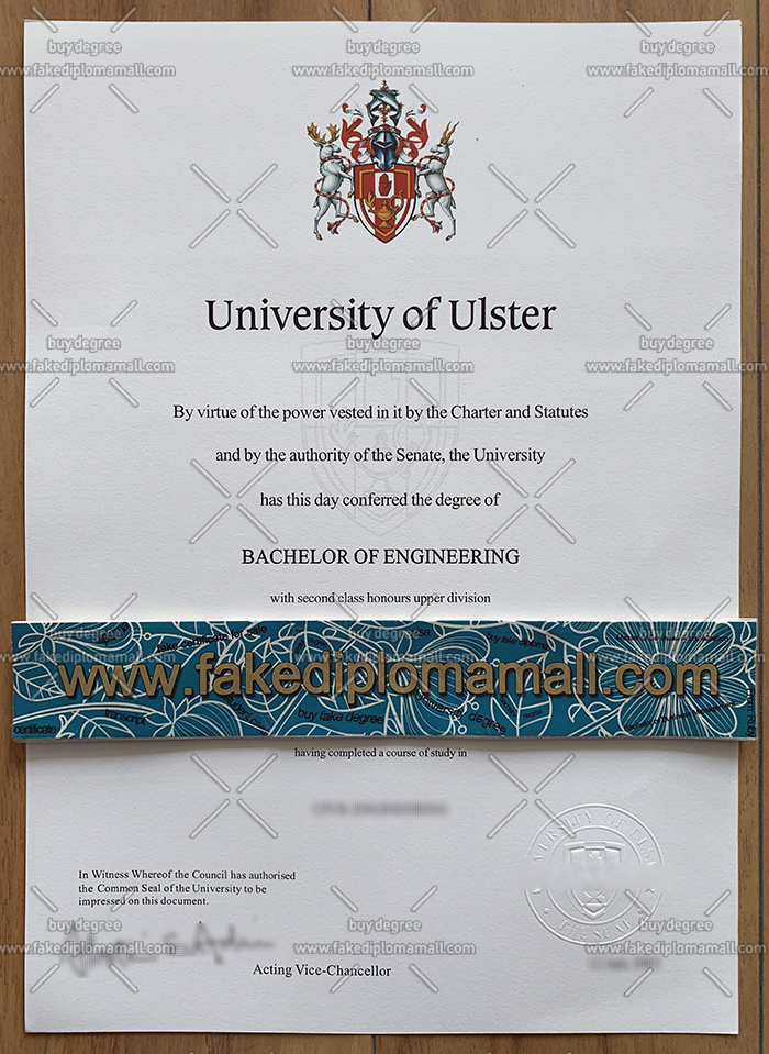University of Ulster degree certificate
