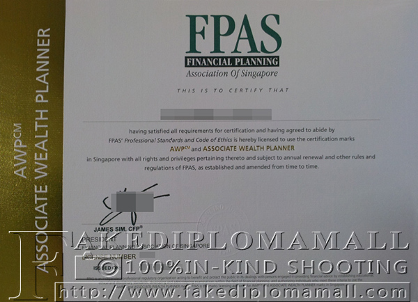FPAS certificate